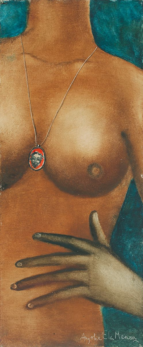 Anjolie Ela Menon Medium: Oil on Masonite board Size: 18 x 7.5 in.
