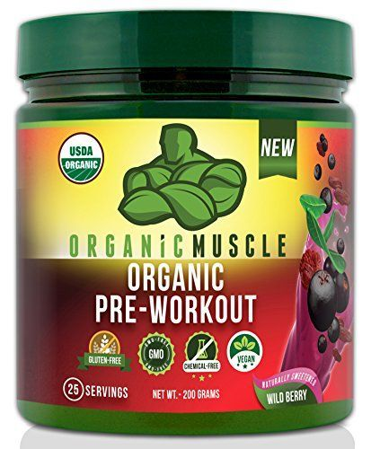 USDA Certified Organic Pre Workout Supplement - Natural Pre Workout & Organic Energy Drink- Non-GMO, Vegan, Paleo, Gluten Free --Wild Berry - 25 Serv. -- Check out the image by visiting the link.