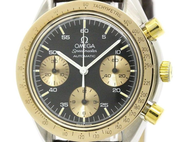 Polished #OMEGA Speedmaster 18K Pink Gold Steel Automatic Mens Watch (BF112369) #eLADY global offers free shipping worldwide. For more pre-owned luxury brand items, visit http://global.elady.com