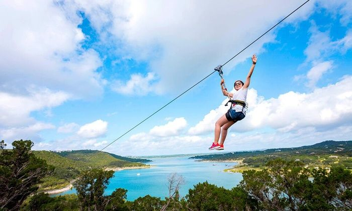 Lake Travis Zipline Adventures - Austin: Zipline Tour for One or Two at Lake Travis Zipline Adventures (Up to 33% Off)