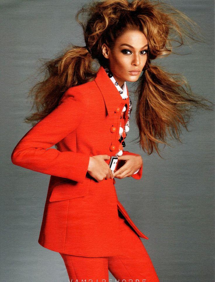 Model Joan Smalls in W July 2012 by Steven Meisel