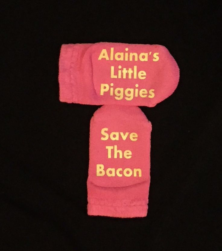 Baby/ Toddler Bacon Socks - Save the Bacon - personalized baby piggy socks - Yummm Bacon!