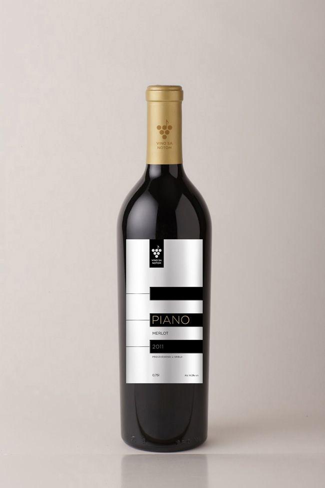 Piano Wine (Concept) #wine #spirit #label #packaging #design #taninotanino #maximum