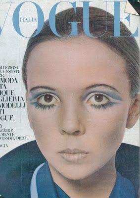 Penelope Tree, photo by David Bailey, Vogue Italia, February 1969*