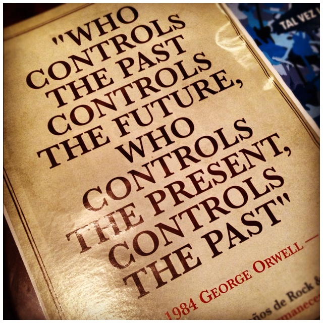 What 3 things that reflect the book (1984 by george orwell) in real life?