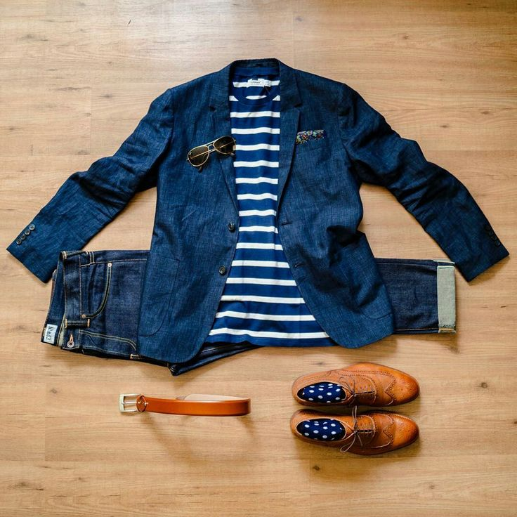 Outfit grid - Striped T-shirt & jacket