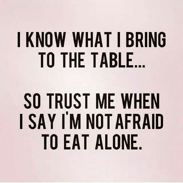 Yes. I can be alone. Introvert