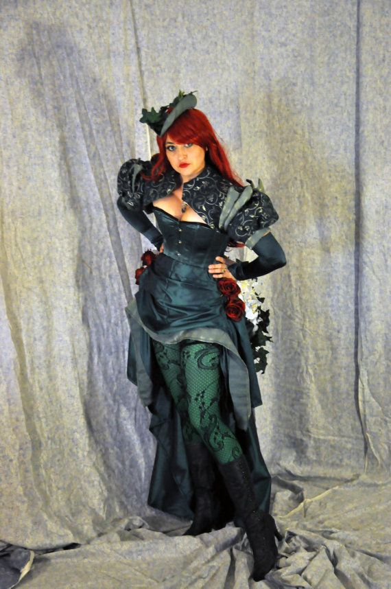 Steampunk Poison Ivy Cosplay Costume Full by OpenPandorasCloset
