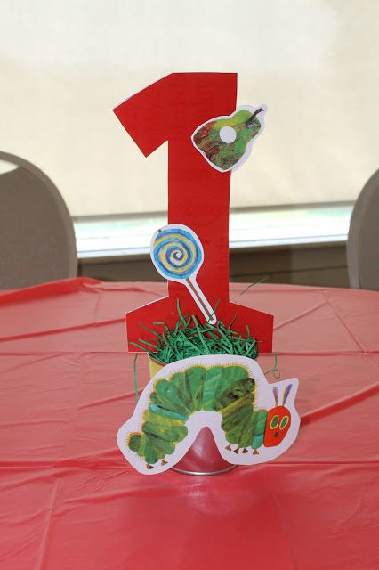 Easy DIY Very Hungry Caterpillar Centerpieces