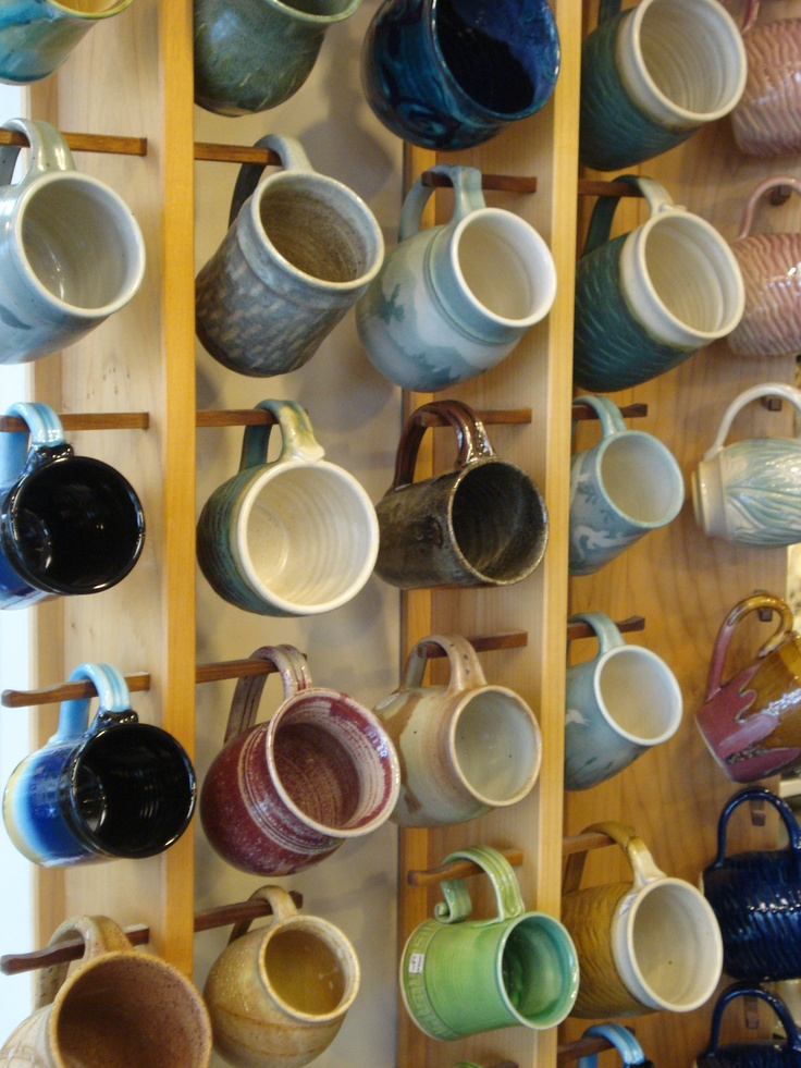 1000 ideas about coffee mug display on pinterest mug for Coffee mug display rack