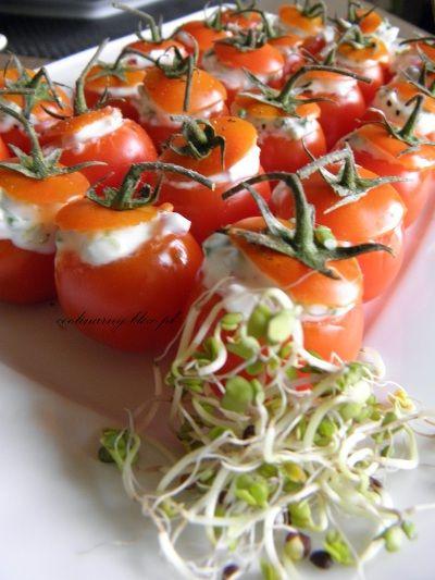 Pomidorki cherry z pastą wiosenną