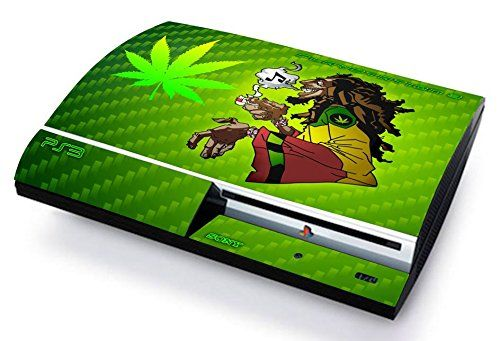 BOB MARLEY MARIJA CANNABIS Skin Cover PS3 FAT HD limited edition DECAL COVER ADESIVA STICKER Playstation 3