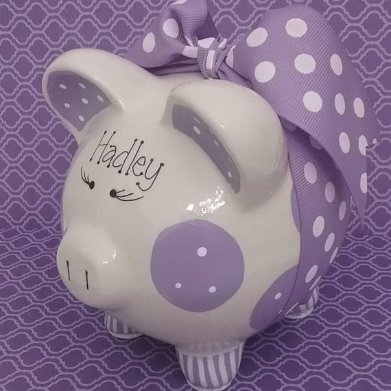 Hucha de púrpura  personalizado