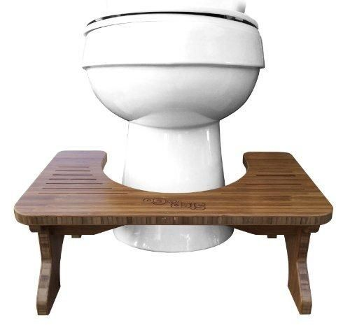 """Step and Go Bamboo Toilet Stool 7"""" and 9"""""""