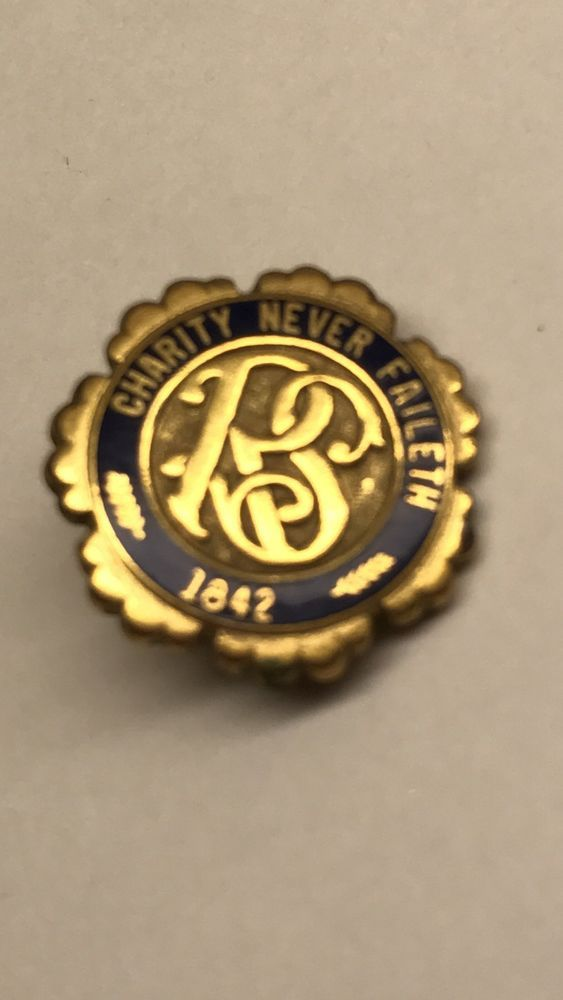 Charity Never Faileth Relief Society Pin 1842 LDS, Mormon, Religion OC Tanner UT