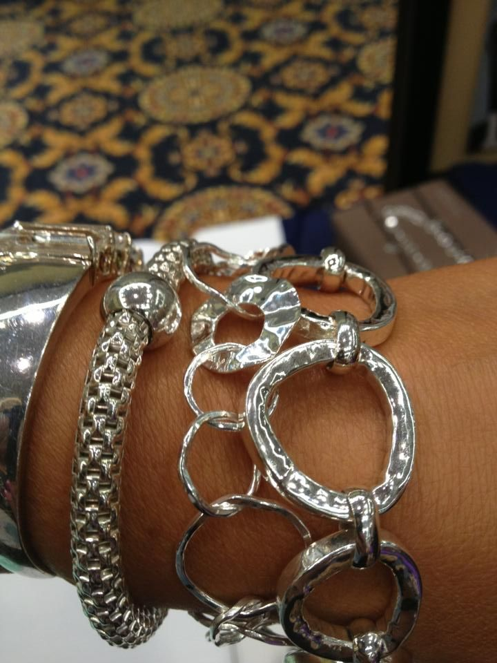 Beautiful Arm Candy! Let me make your Silver wishes come true.  Place your order for these beautiful bracelets at www.mysilpada.com/essie.petrovich