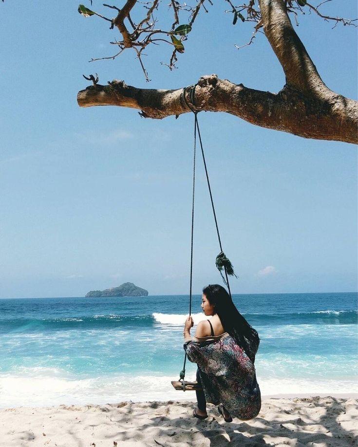 A beautiful private beach in #Malang, Sendiki Beach, #Indonesia  Photo by: IG @haififi_