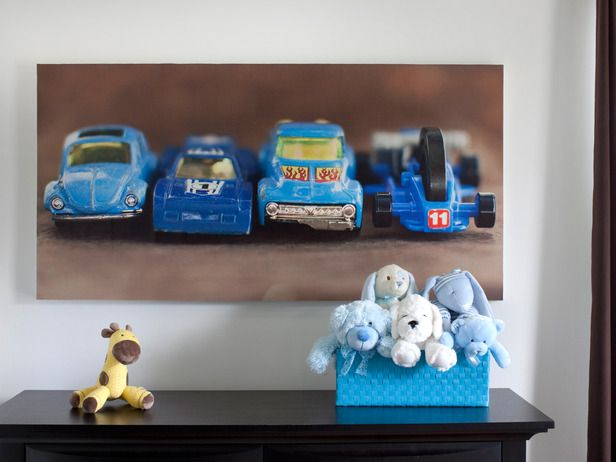 photographing child's favorite toys for artwork
