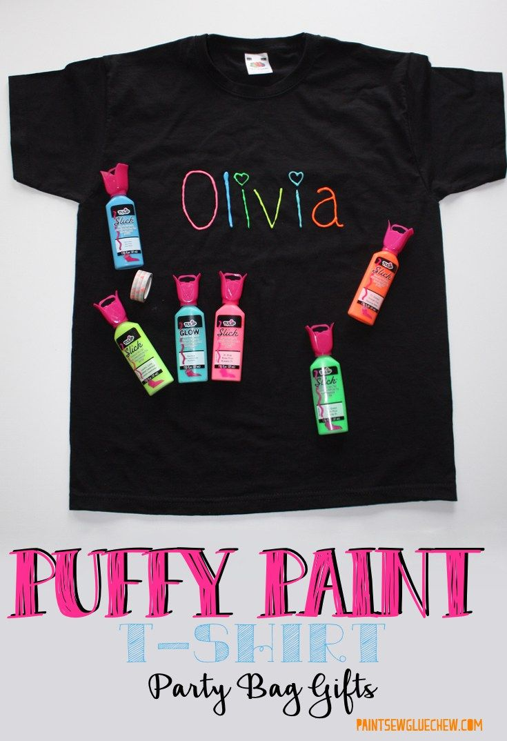 T-shirts Decorated With Puffy Paint