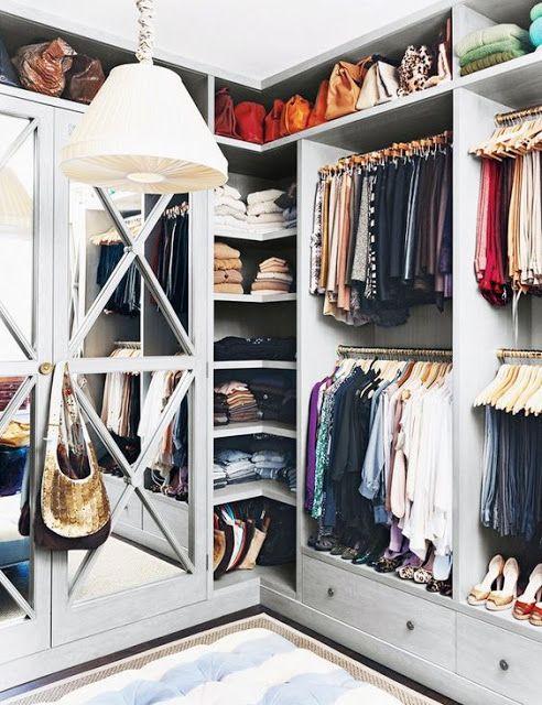 Corner in closet - South Shore Decorating Blog: 50 Favorites for Friday