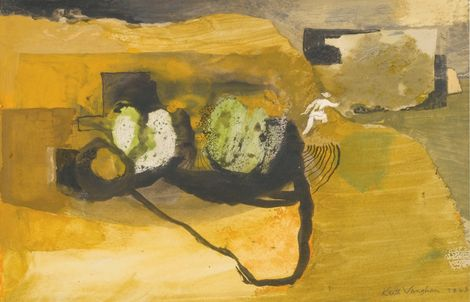 Keith Vaughan, Boulders on a Cliff Path on ArtStack #keith-vaughan #art