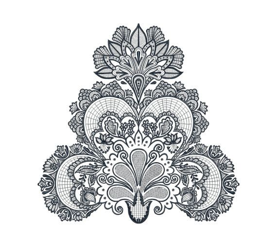 Lace, ornament, pattern - Machine Embroidery Design - Instant Download