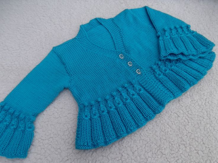 Teal Jacket/Bolero. by tlcrochetknitting on Etsy