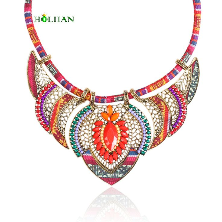 Cheap choker pendant, Buy Quality boho necklace directly from China necklace ethnic Suppliers: Female vintage choker pendants&necklaces big boho necklaces ethnic bohemian jewelry statement tribal orange bijoux femme mujer