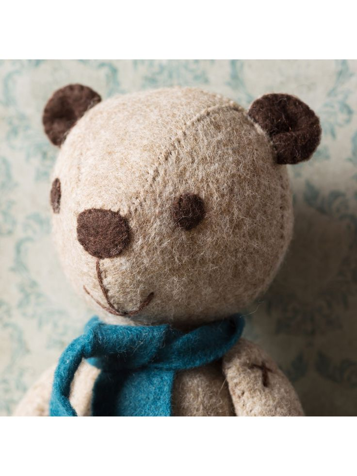 Corinne Lapierre Vintage Felt Teddy Bear Craft Kit