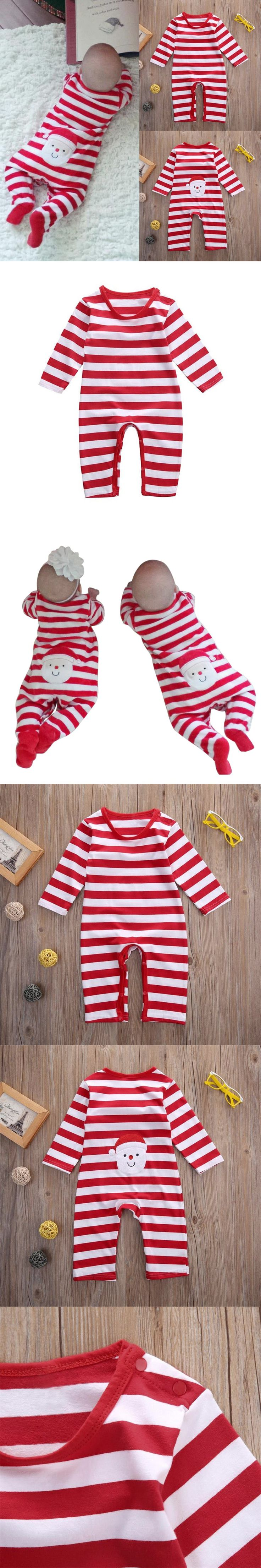 3-18M Christmas Baby Romper Infant Winter Clothes Kids Baby Boys Girls Long Sleeve Playsuit Cotton Clothes $8.77