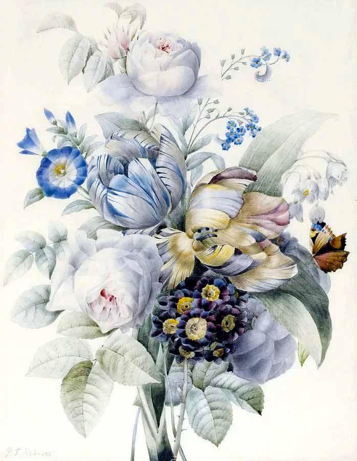 Идеи для, картинки для декупажа свадебные цветы