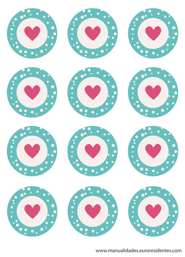 free printable toppers. Imprimibles para San Valentín. http://manualidades.euroresidentes.com/2014/02/imprimibles-para-cupcakes.html