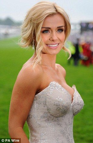 Katherine Jenkins' beautiful make-up and hair - perfect for a wedding day
