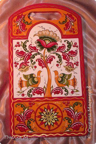 Декор предметов 8 марта Роспись Борецкая роспись комплект на кухню  Дерево Краска фото 3