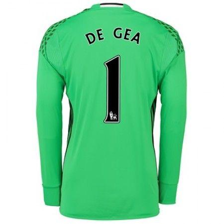 Manchester United 16-17 Målmand David #de Gea 1 Hjemmebanesæt Lange ærmer,245,14KR,shirtshopservice@gmail.com