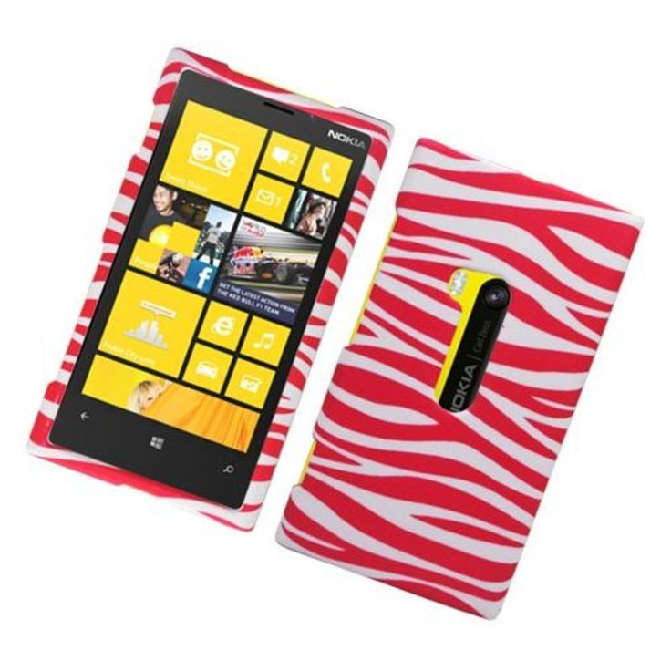 Insten Zebra Rubberized Image Protector Case Cover for Nokia Lumia 920 #2316632