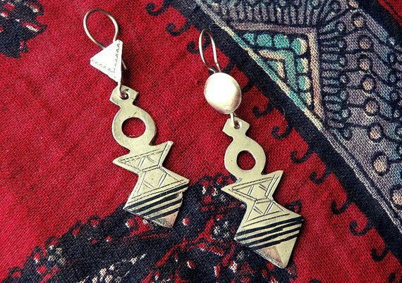Tuareg earrings tuareg jewelry Berber jewelry by CarmelaRosa