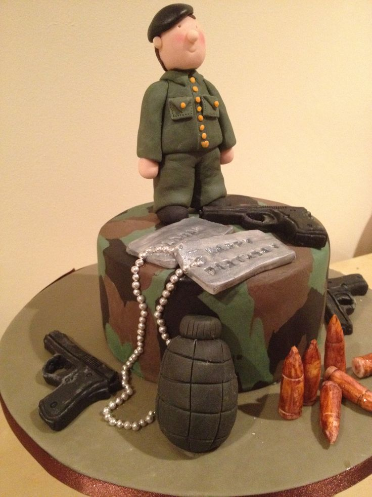 1000 images about army cakes on pinterest birthday for Army cake decoration
