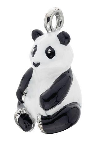 Panda charm for enamelled keyring