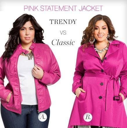Plus size fashion.....I need one of these coats, either A or B. uggggghhhhhh