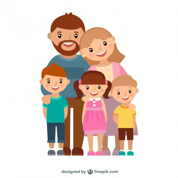 La familia feliz Vector Gratis