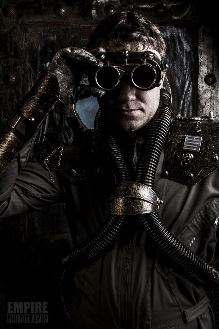 Steam Punk Diver without Helmet..