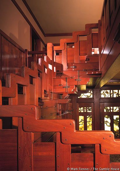 This is the coolest staircase I've ever seen. Love the arts & crafts style.  Gamble House / Greene & Greene