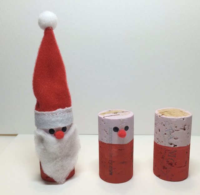 Wine Cork Santa Ornament Craft