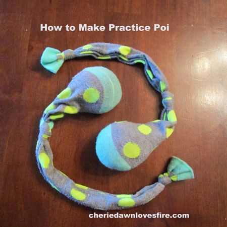 DIY How to make practice poi - simple, and cheap! #poi #flow #dance #DIY
