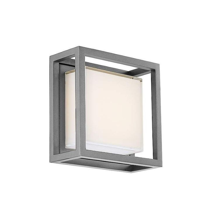 Modern Forms WS-W736 Framed 1 Light LED ADA Compliant Outdoor Wall Sconce Graphite Outdoor Lighting Wall Sconces Outdoor Wall Sconces