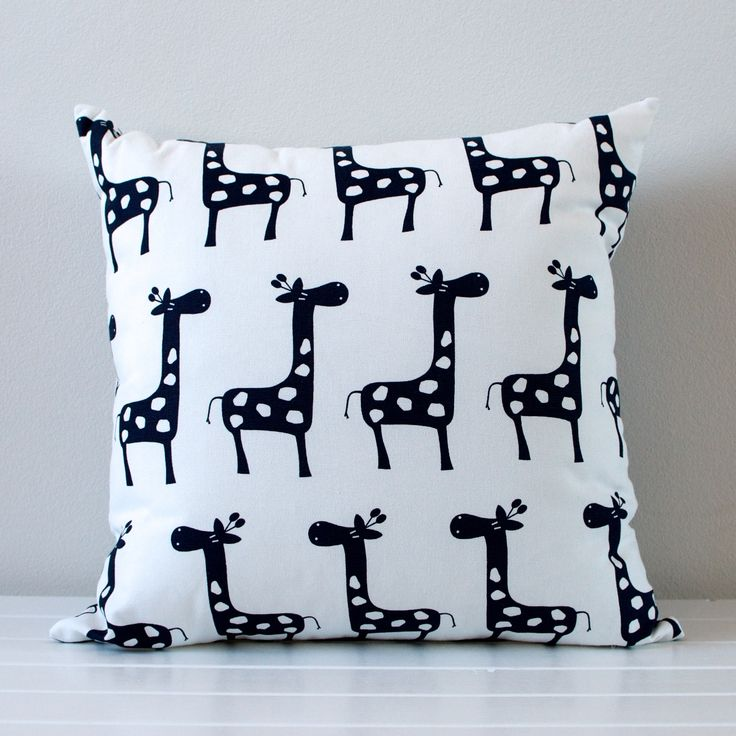 Little Dragon by Lauren Unlimited Navy and White Giraffe Chevron Cushion 45cm x 45cm  A cute and contemporary cushion featuring navy giraffes on the front, and navy and white chevron pattern on the reverse side.   Find it here: www.laurenunlimited.com.au  Custom order? Email me at lauren@laurenunlimited.com.au