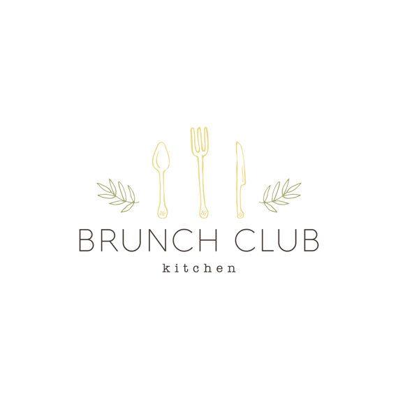Premade Logo Design Organic Cutlery Catering Logo Food Catering Logo Logo Design Inspiration Branding Logo Design Kitchen