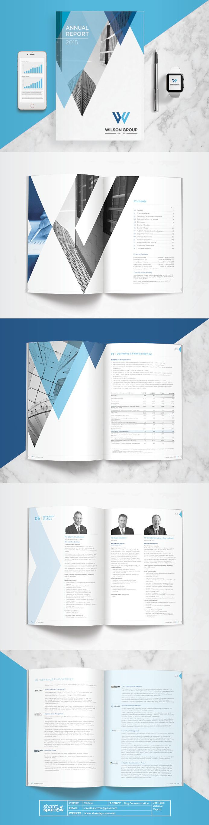 Design by Shanti Sparrow Client: Wilson Project Name: Annual Report www.shantisparrow.com  #Design #graphicdesign #illustration #layout #mag