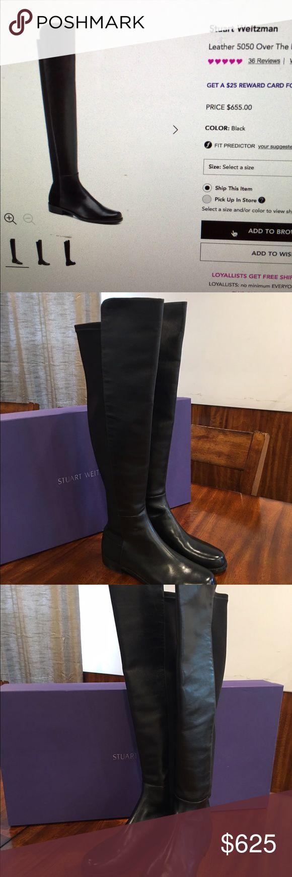 Stuart Weitzman Leather 5050 O/T/K Boots Stuart Weitzman Leather 5050 Over The Knee Boots (New/Never Worn) Stuart Weitzman Shoes Over the Knee Boots